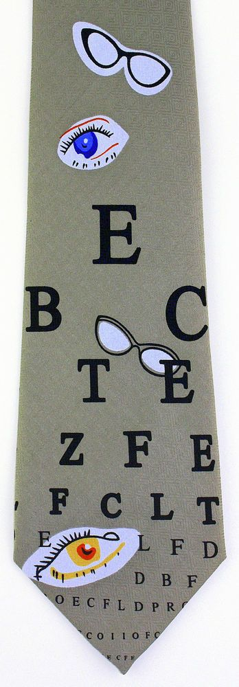 Eye Chart Mens Neck Tie Optometrist Doctor Glasses Optician - medical charts
