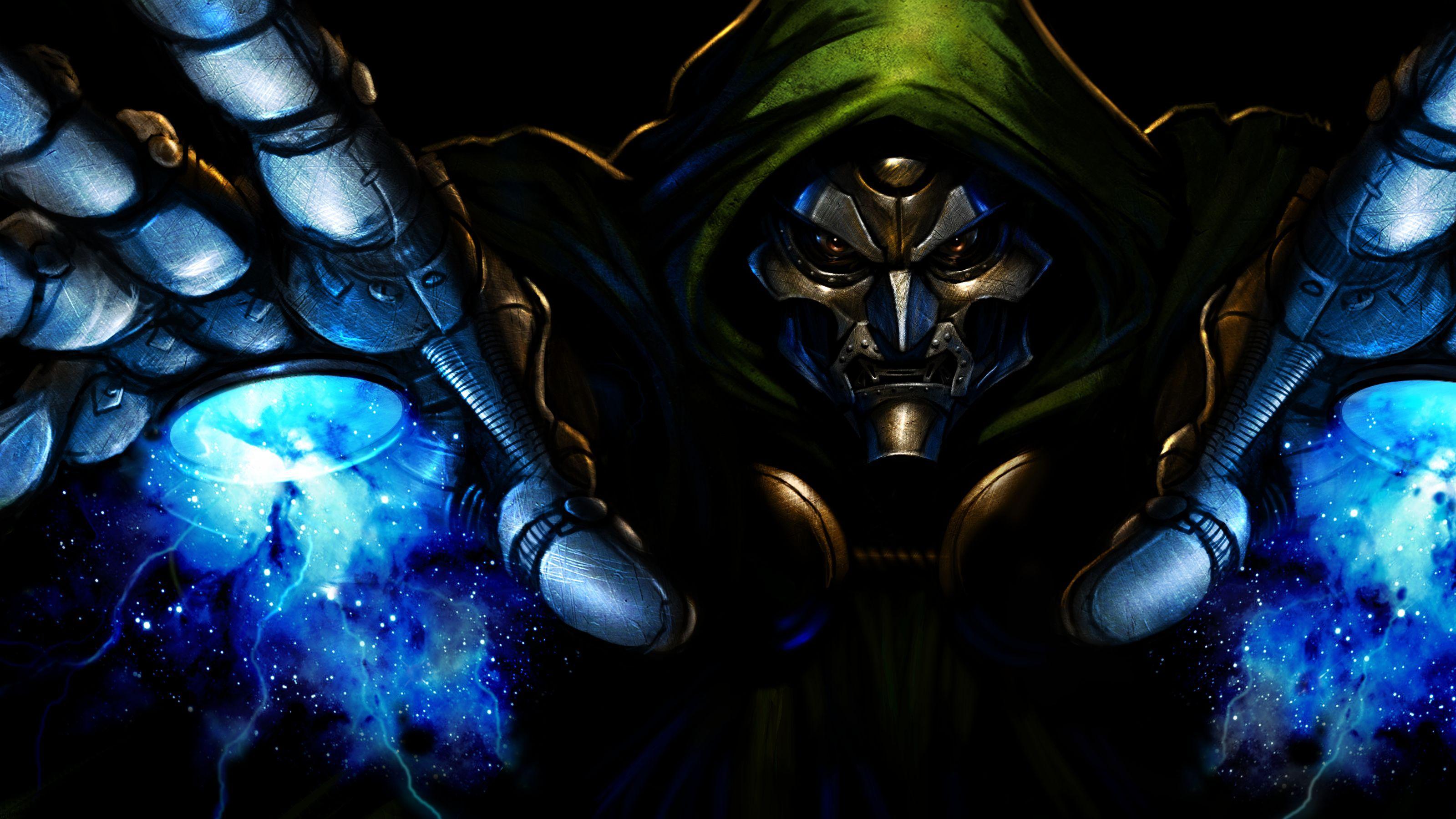 Dr. Doom Artwork (With images) Dc comics wallpaper