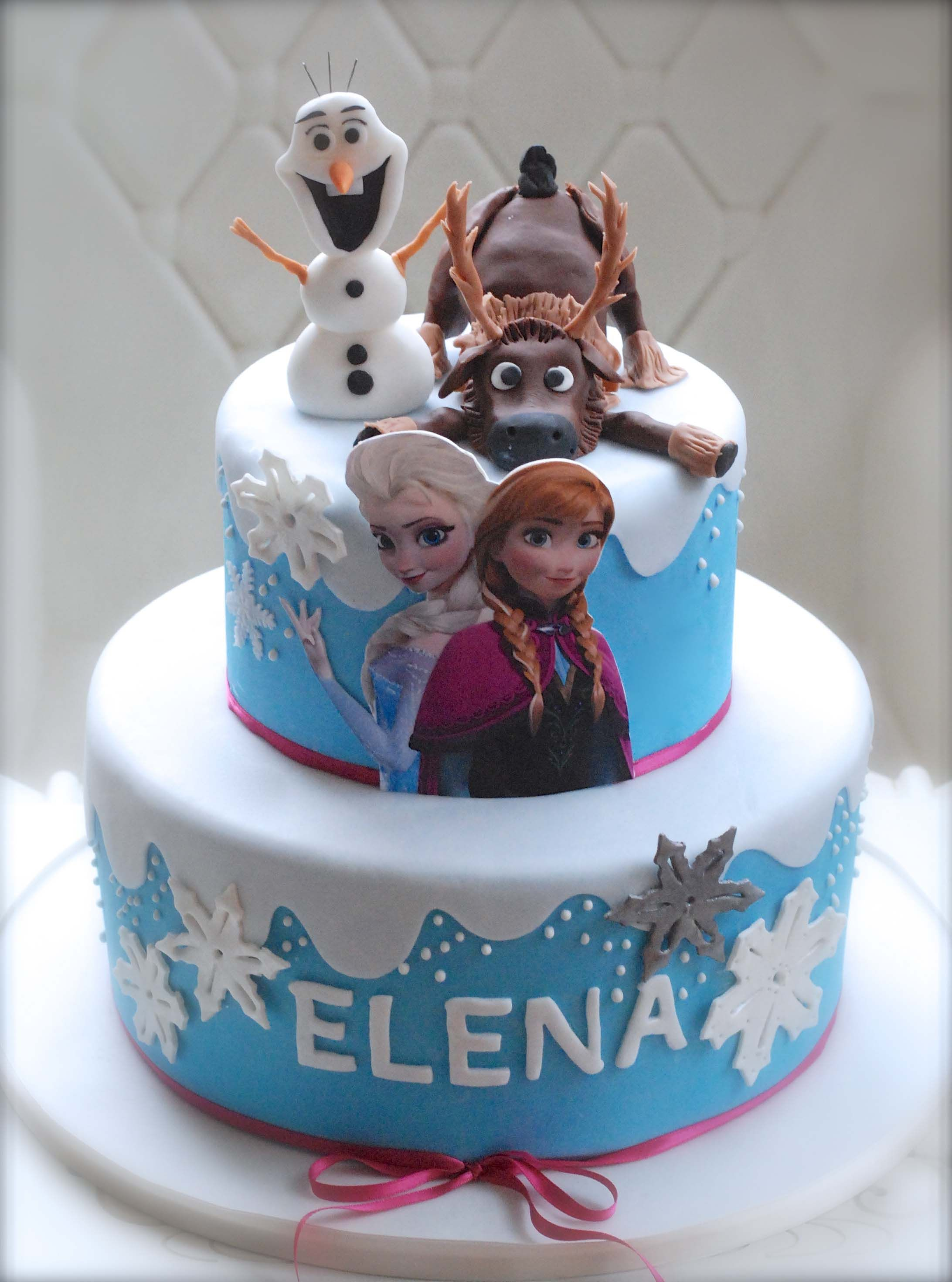 FROZEN CAKE BLUE PINK | THE CAKES | Pinterest | Cake