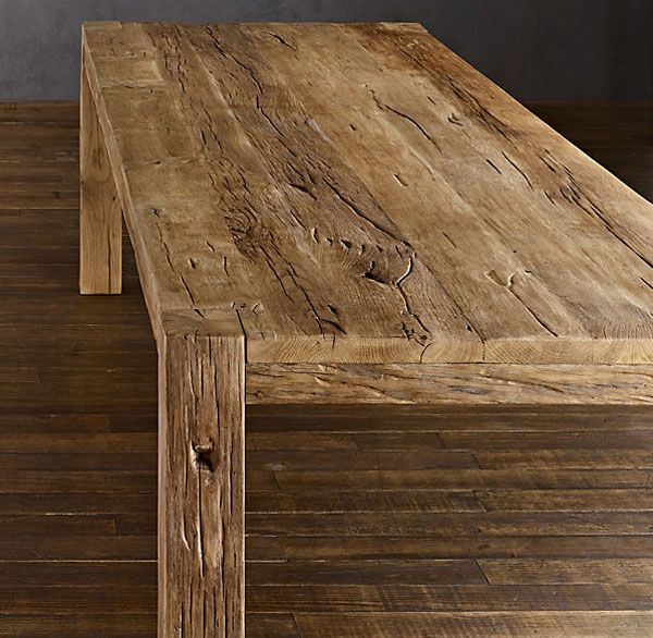 Oh, How I Just Love Reclaimed Wood Dining Tables! Hereu0027s One: Parsons  Reclaimed Russian Oak Dining Table / Restoration Hardware