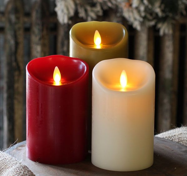 Moving Flame Ivory Candle Battery Operated 3 5 X 5 Timer Remote