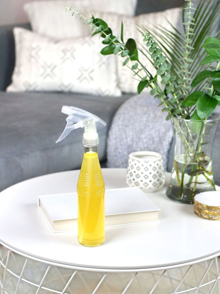 Diy rose petal infused cleaning spray homemade fabric