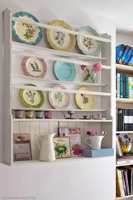 lugar de pratos è..na parede !!!! Antique PlatesVintage ... & lugar de pratos è..na parede !!!! | Plate racks Kitchens and Shelving