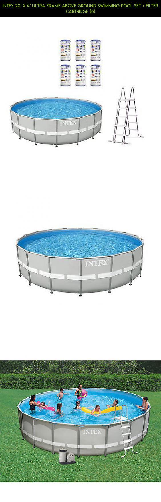Intex 20\' x 4\' Ultra Frame Above Ground Swimming Pool Set + Filter ...