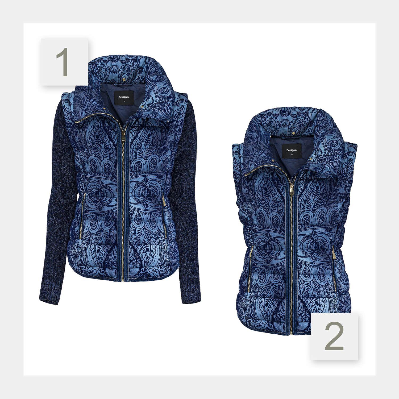 Desigual Damen 2 in 1 Jacke   Jacken, Modestil, Damen