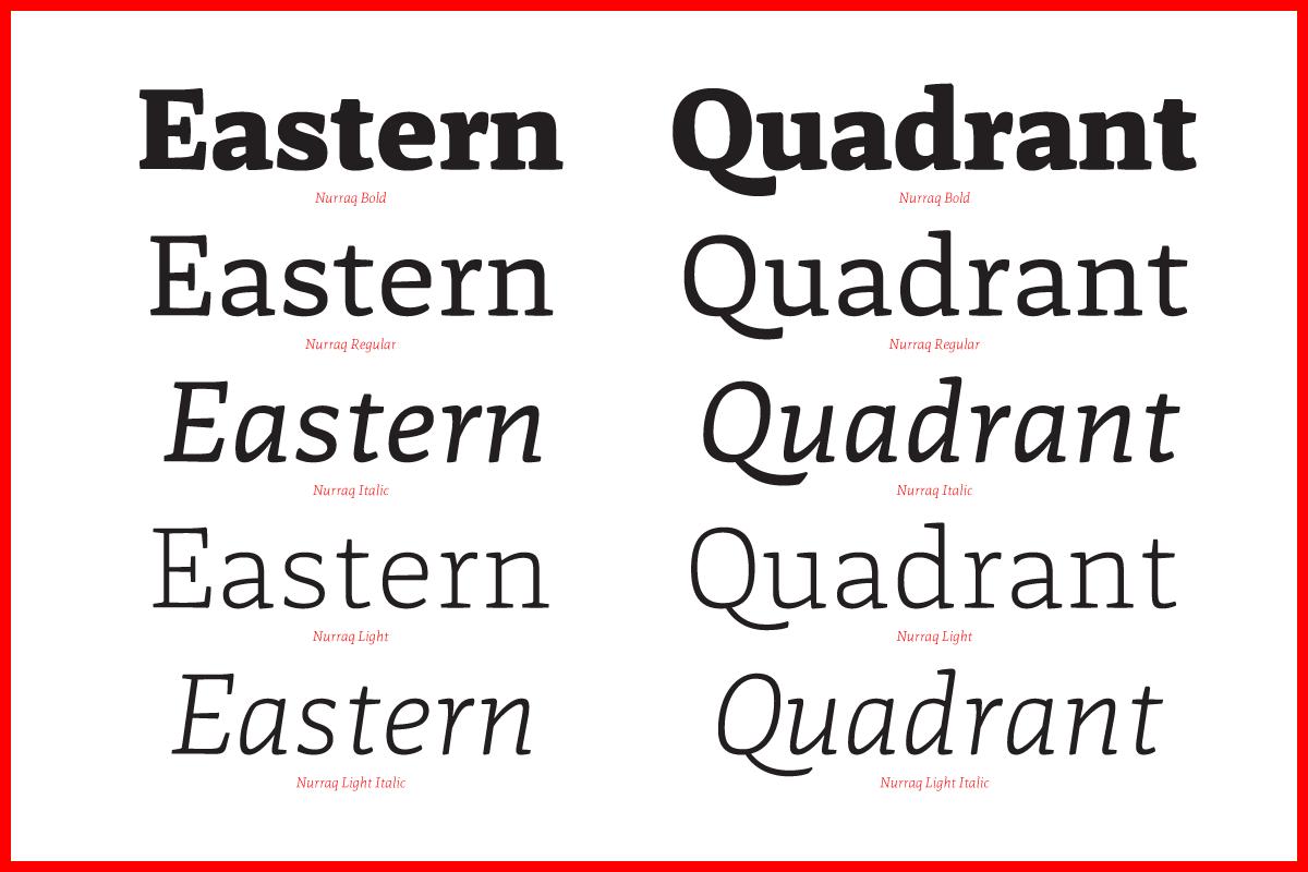 Nurraq font