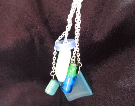 Ladies beach style necklace with silver by Somethingissparkling, $20.00
