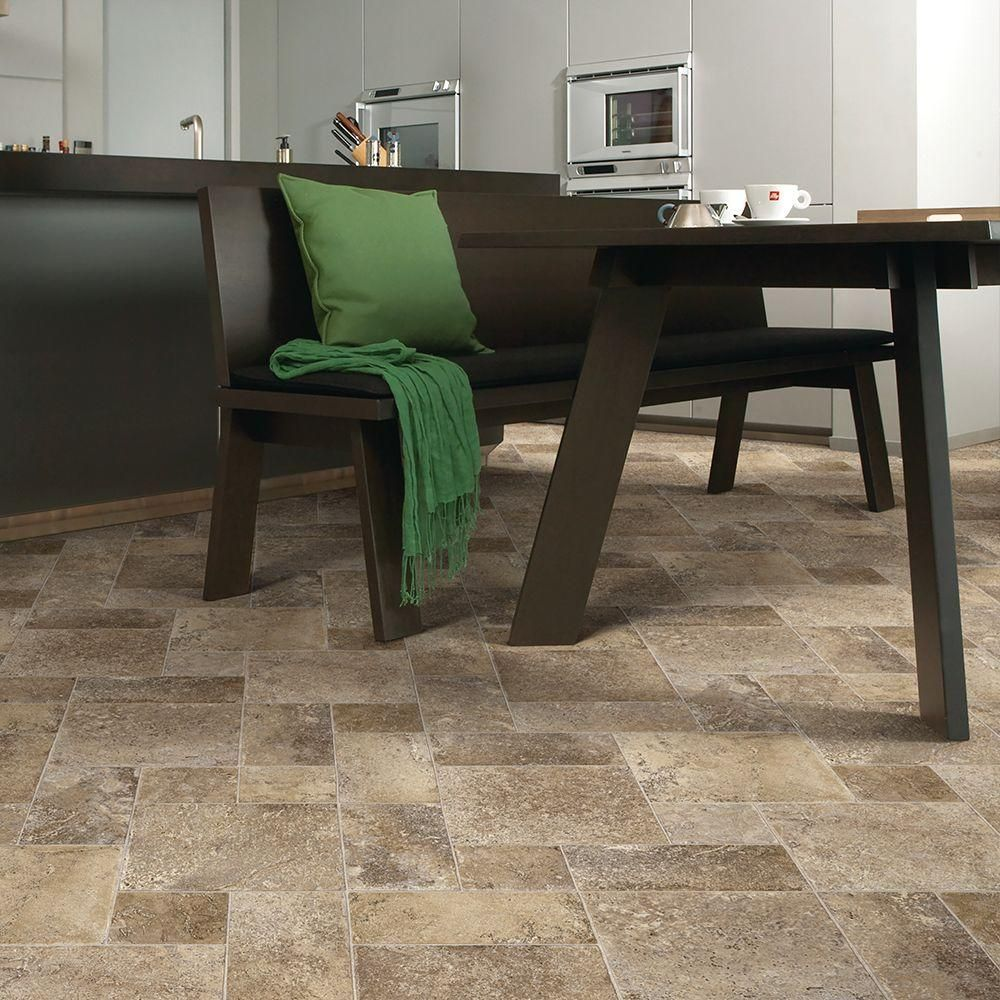 bring a focal point into your residence by using this coffee diagonal tile vinyl sheet