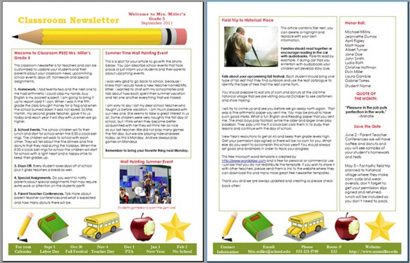 Preschool Newsletter Templates Free New Preschool Newsletter Template Preschool Newsletter Templates Preschool Newsletter School Newsletter Template