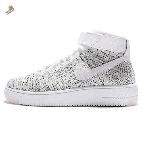 on sale e8706 7cd4c Nike - W AF1 Flyknit - 818018101 - Color: Grey-White - Size ...