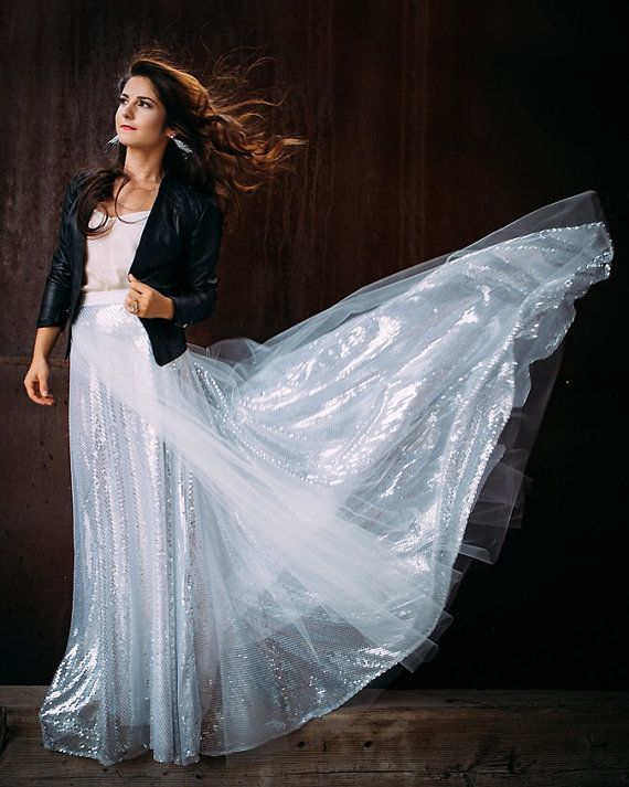 Hey, I found this really awesome Etsy listing at https://www.etsy.com/listing/249426534/silver-sequin-floor-length-stargazer