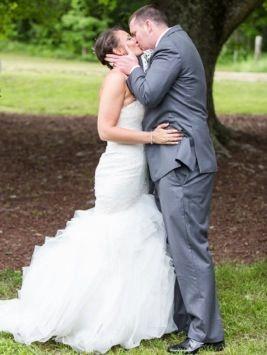 Wedding Photo: The Kiss by Windy Peak Photography via Heather Renee Celebrations