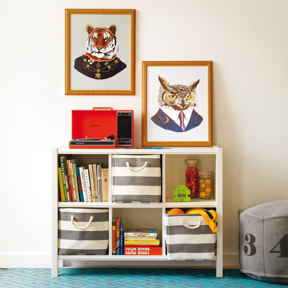 Kids Storage: Striped Cube Storage Collection | The Land of Nod