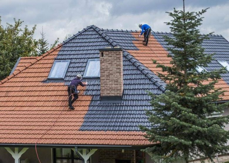 No Matter The Reason Top View Roofing Complete Roofpainting Of All Shapes Sizes Tiled Concrete And Colorbond Ro Roof Paint Roof Restoration Colorbond Roof