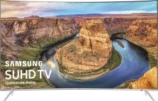 """Samsung - 65"""" Class (64.5"""" Diag.) - LED - Curved - 2160p - Smart - 4K Ultra HD TV - with High Dynamic Range - Black - Larger Front"""