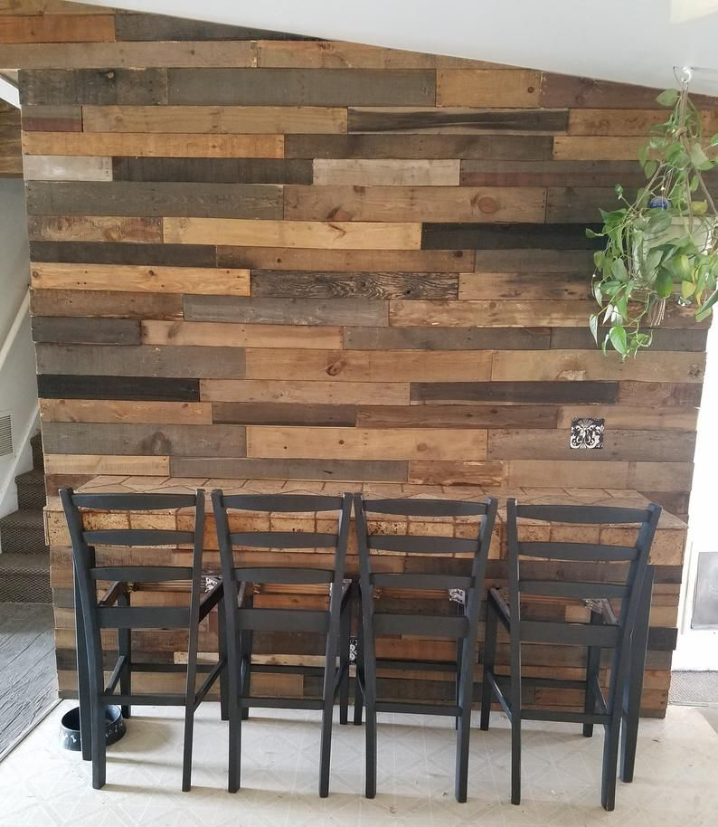 Diy Stained Wood Accent Wall: Pre-Stained Pallet Wood Accent Walls - Utah In 2020