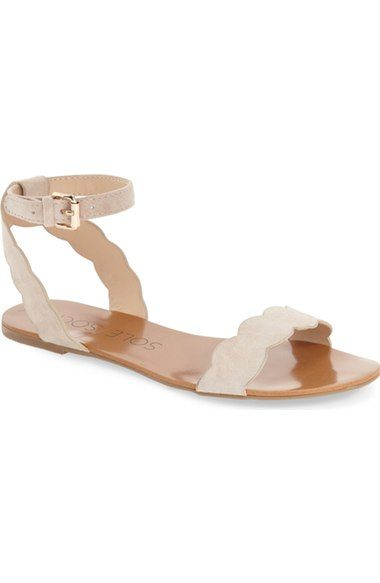 d60fb1c6c Sole Society // 'Odette' Scalloped Ankle Strap Flat Sandal | We ...