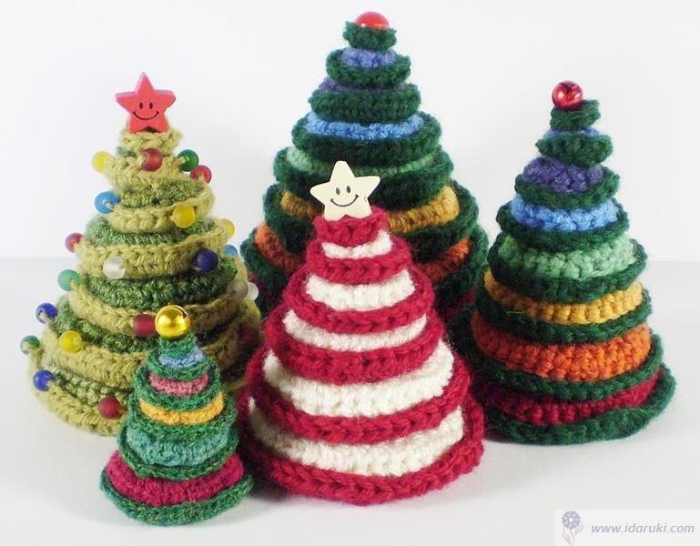Amigurumis Navideños Patrones Gratis : Hacer arbol de navidad a crochet06 arboles navidad pinterest
