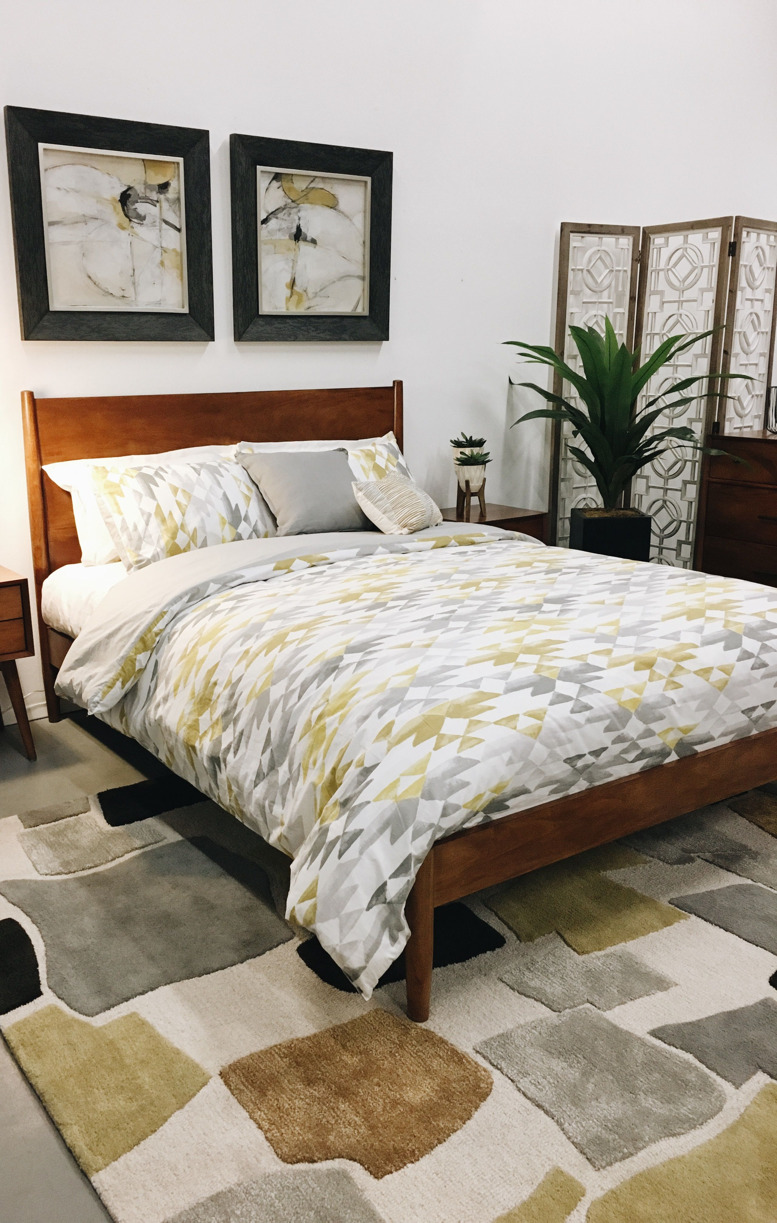 Mid century bedroom american home