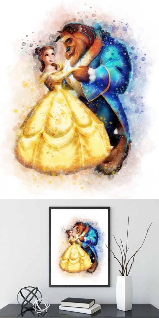 Belle Quote ART PRINT Gift Wall Art Nursery Beauty and the Beast Princess
