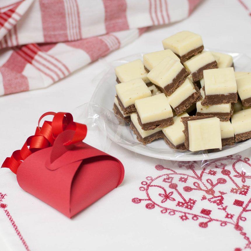 fudge kondenserad mjölk vit choklad