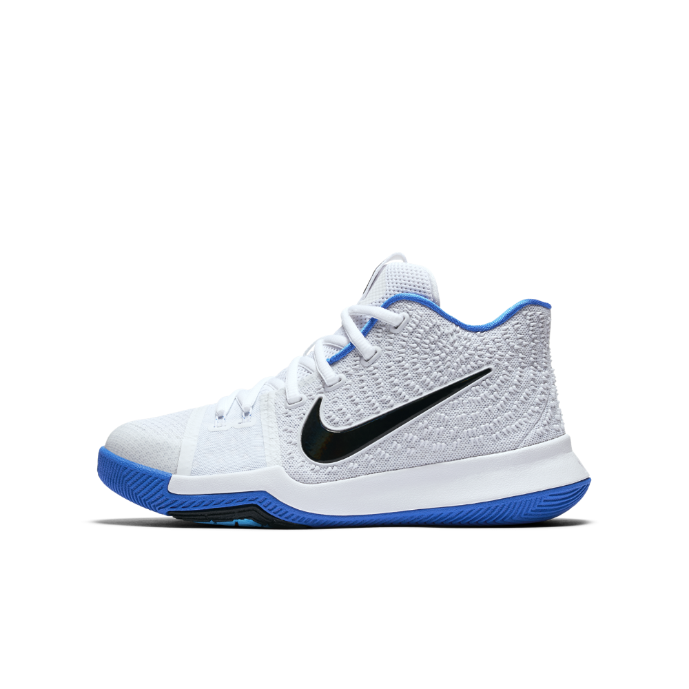 new styles afaca c7454 Nike Kyrie 3 Big Kids  Basketball Shoe Size 4.5Y (White)