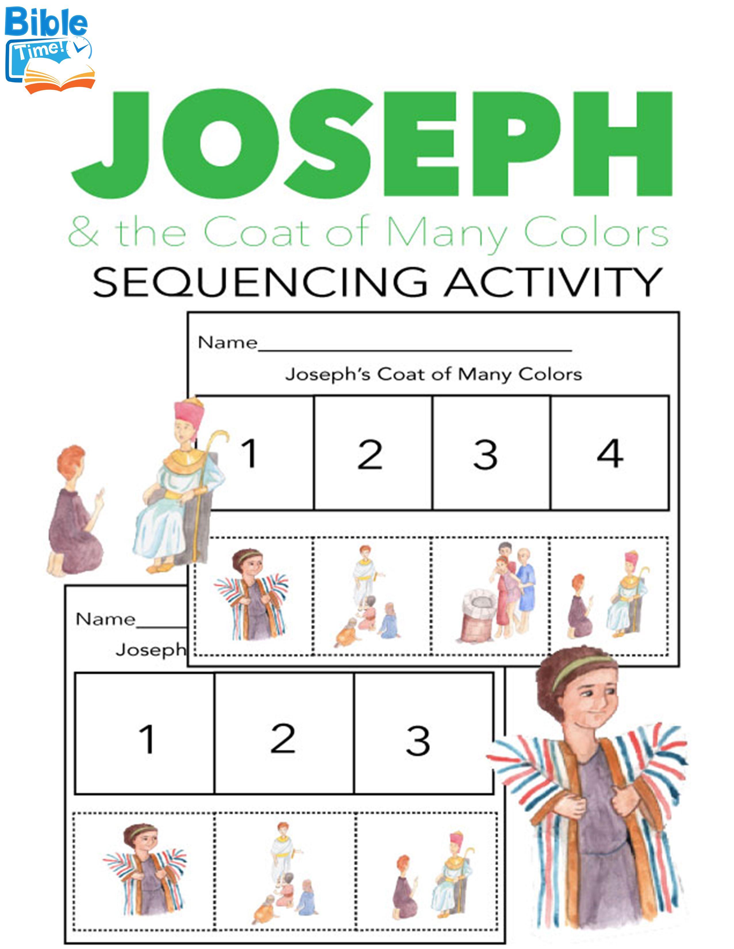 The Bible Story Of Joseph Sequencing Activity This Kids Bible Activity Will Teach Children Bible Lessons For Kids Bible Activities For Kids Sunday School Kids [ 3300 x 2550 Pixel ]