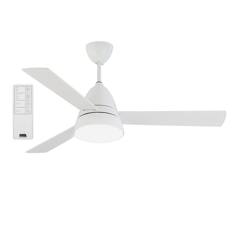 Zenta 133cm Grande 3 Blade Ceiling Sweep Fan With Led Light Fitting And Remote Control