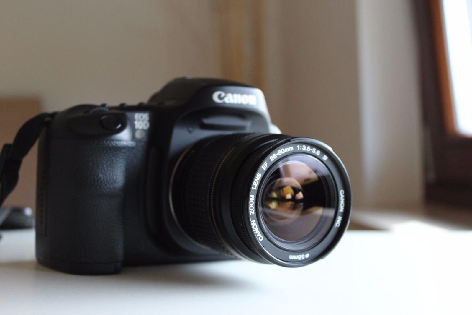 Canon Eos 10d 6 3 Mp Digital Slr Camera Black 28 80mm Zoom Lens Digital Slr Canon Eos Eos
