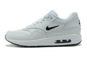 Mens Womens Nike Air Max 1 Premium SC Jewel Master White Black 918354 103 Running  Shoes d27a2b7f7