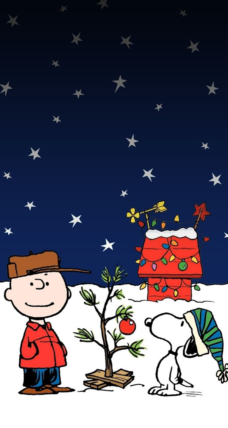 Merry Christmas Charlie Brown Snoopy Wallpaper Wallpaper Iphone