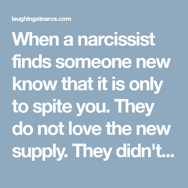 Finds someone new a narcissist How to