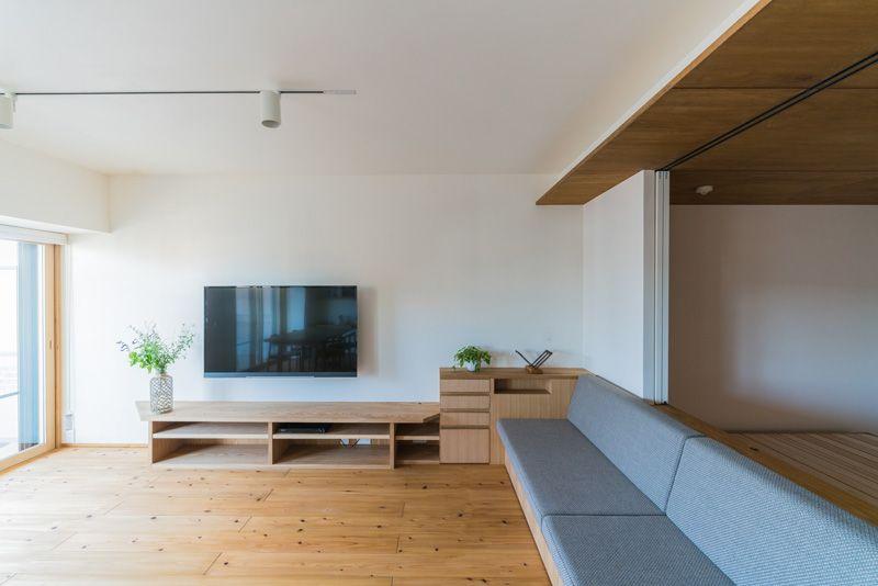 自然素材 中庭 平屋 木の家 中古住宅 マンション リフォーム 千葉の