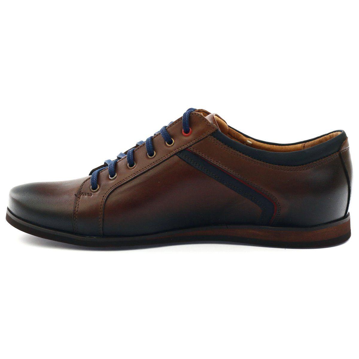Polbuty Meskie Sportowe Nikopol 1580 Braz Brazowe Dress Shoes Men Oxford Shoes Men Dress