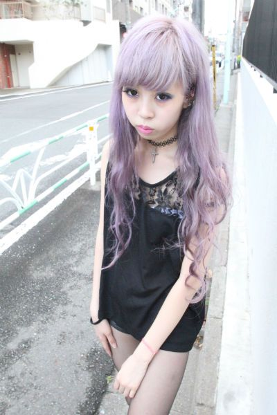 Asian with lavender hair! REALLY contemplating this look..!
