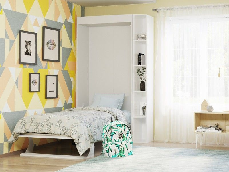 Space Saving Twin Sized Wall Bed High Quality European Furniture