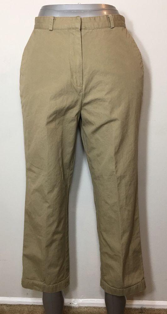 a60f69029 Eddie Bauer Khaki Pants Pintuck Work Career Uniform Womens Size 6 | eBay
