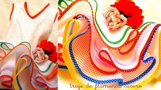 Traje de flamenca casero para niña, consejos: http://www.manualidadesinfantiles.org/traje-de-flamenca-casero