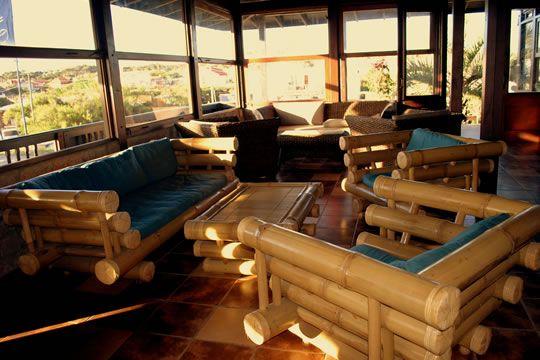 Juego de living en bambú