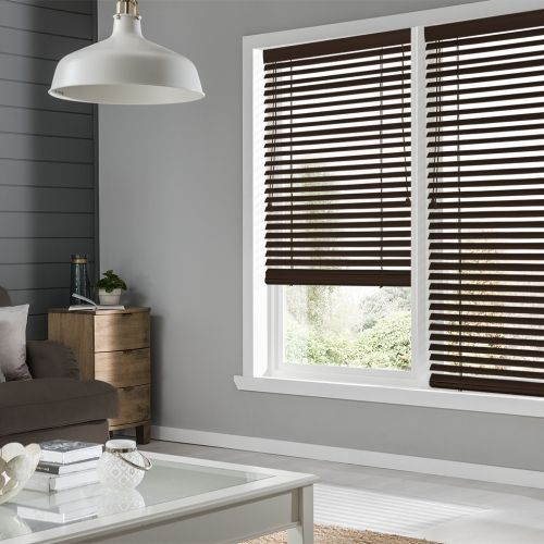 Premium Black Coffee Wooden Blind