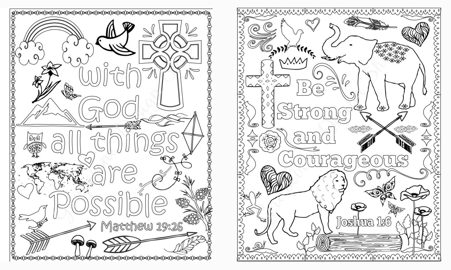 Love Your Neighbor Coloring Page Bible Verse Pages Set Of 5 Instant Download Printable