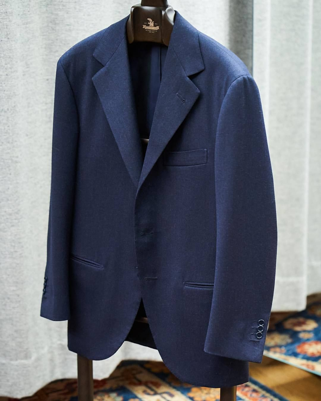 dfd63c744ceca1 A prime example of the #Liverano house cut. Soft, extended shoulder and a