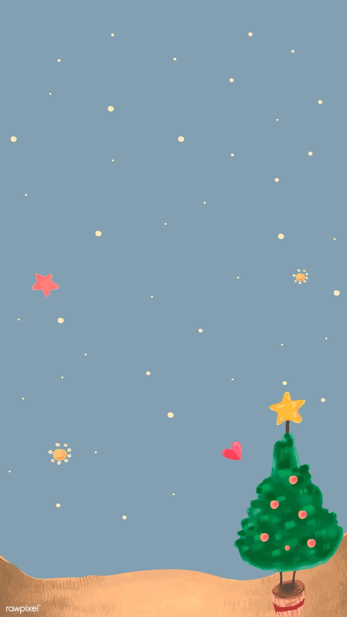 Download Premium Vector Of Cute Christmas Tree At Night Background Mobile Christmas Phone Wallpaper Merry Christmas Wallpaper Wallpaper Iphone Christmas