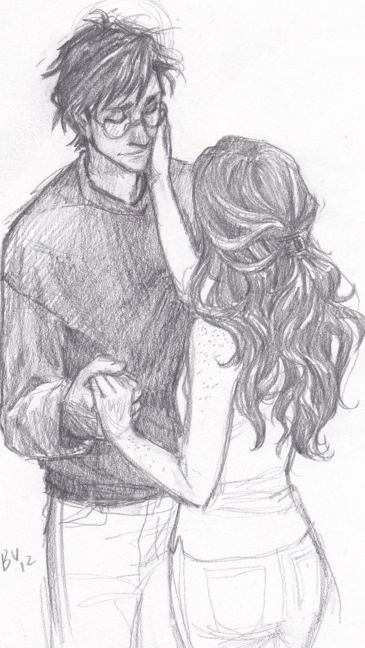 Harry And Ginny 3 Desenhos Harry Potter Desenhos De Amor Arte