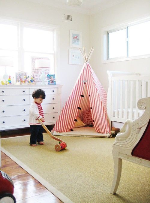 33 Cool Kids Play Rooms With Play Tents & 33 Cool Kids Play Rooms With Play Tents | great home ideas ...