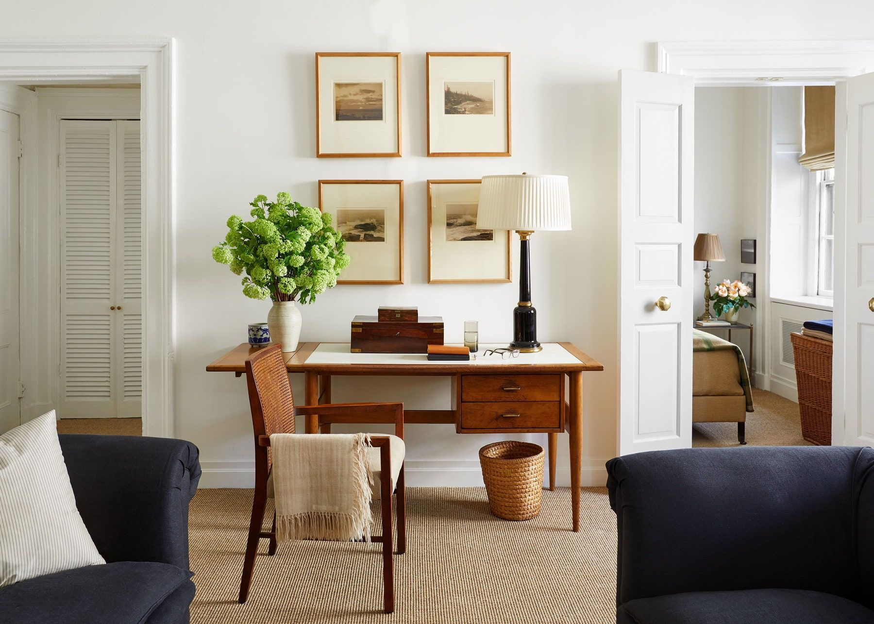 This Gramercy Park Apartment Is The Definition Of Charming Architectural Digest In 2020 Desk In Living Room Living Room Diy Family Room Design