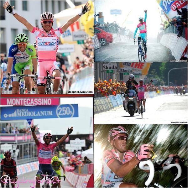 Si ganar es increíble , ganar con la maglia rosa es un sueño #Giro #GiroE3