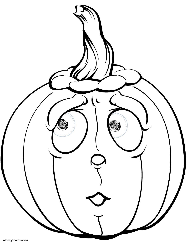 citrouille qui a peur halloween coloriage dessin