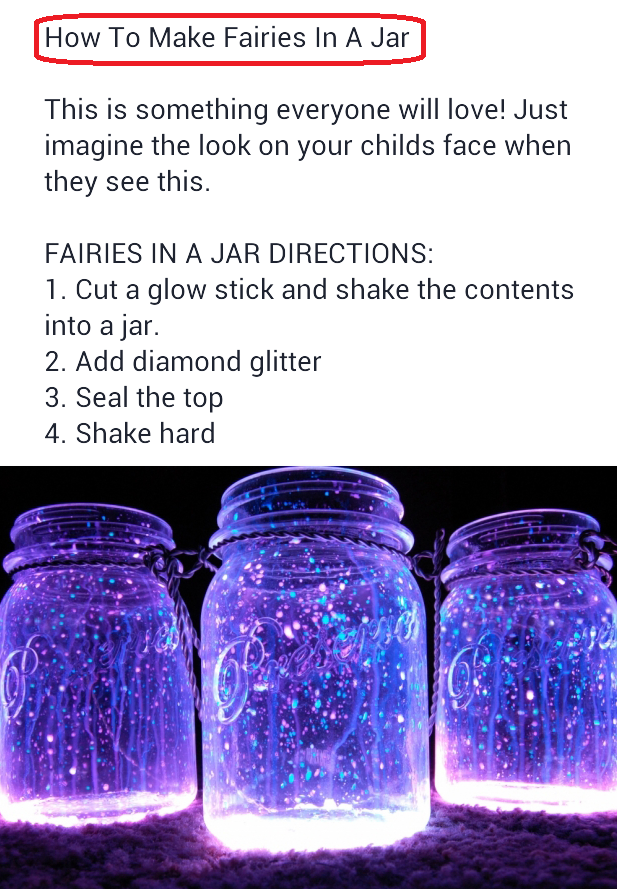 With Fairy sticks glow jars mason