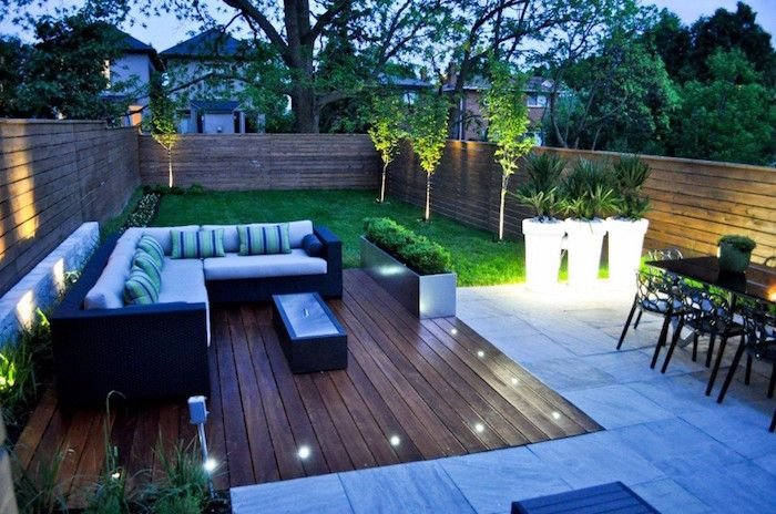 Eclairage Terrasse Bois Lanterne Exterieur Lumiere Jardin Idee